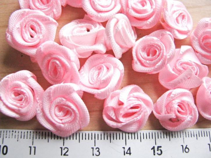 4 Stk. Satin-Röschen in baby-rosa Fb1056