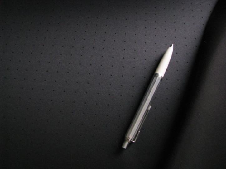 1m hochwertiger Pünktchen-Miederstoff, doppellagig, in schwarz Fb4000