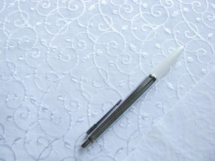 1m strukturierter Edel-Miederstoff in rein-weiß Fb4000