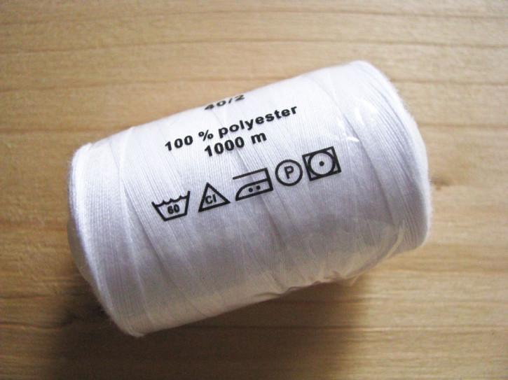 1 Spule Nähgarn in rein-weiß Fb2000