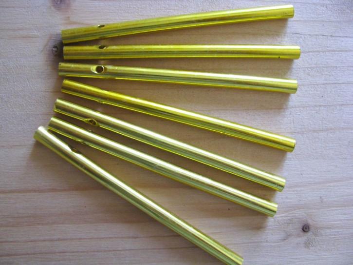 1 Set/7 Stk. Klangstäbe in gold - 9cm