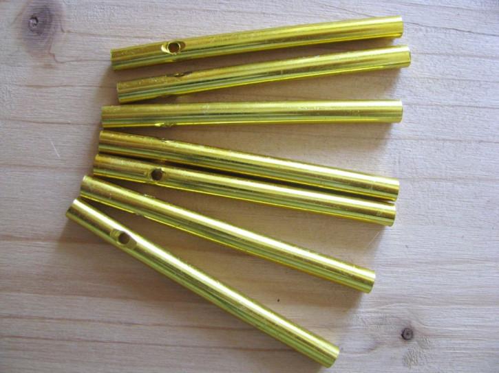1 Set/7 Stk. Klangstäbe in gold - 7cm