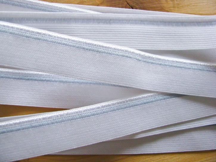 6m Paspelgummi in rein-weiß Fb2000...
