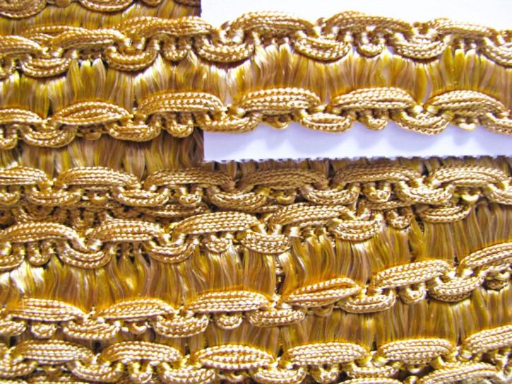 1m Web-Viskose-Borte in gelb-gold Fb3600