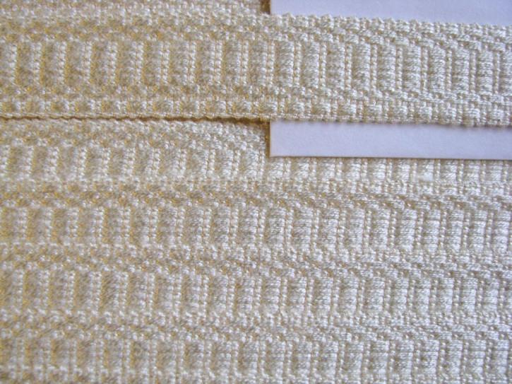 1m edle BW-Web-Borte in jaune Fb1384 cremestichig
