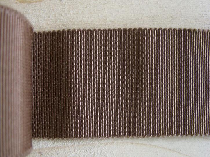 5m Ripsband/Gurtband in erdbraun Fb1182