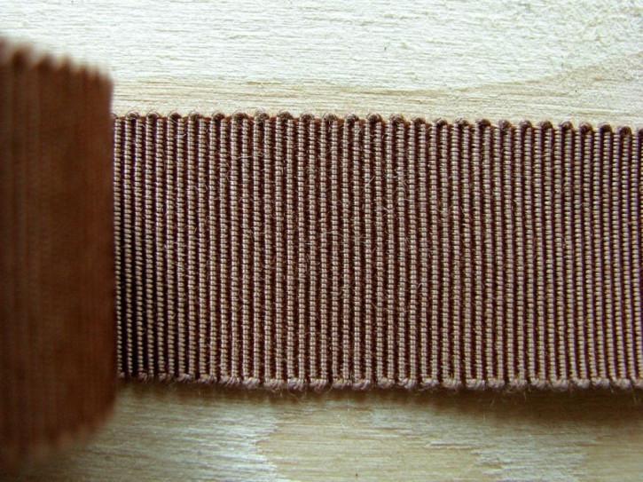 5m Ripsband/Gurtband in nuss-braun Fb1223