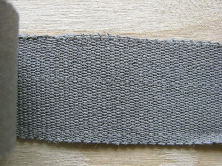 5m Ripsband/Gurtband in metallgrau Fb0415