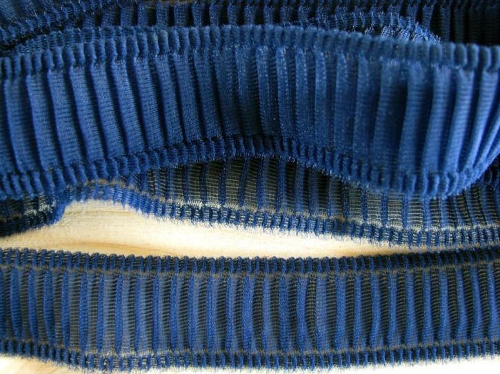 6m zarte Rüschenborte in nautic-blau Fb1465