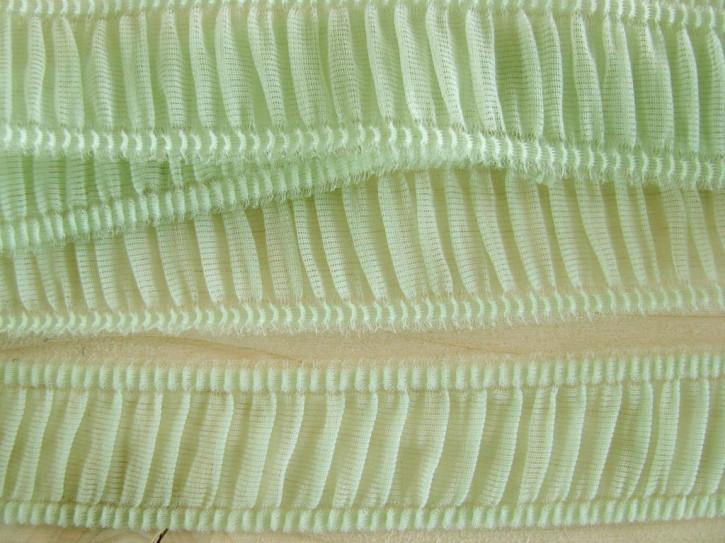 6m zarte Rüschenborte in zart-grün Fb0091