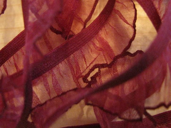 Rüschengummi in wein-rot Fb0918