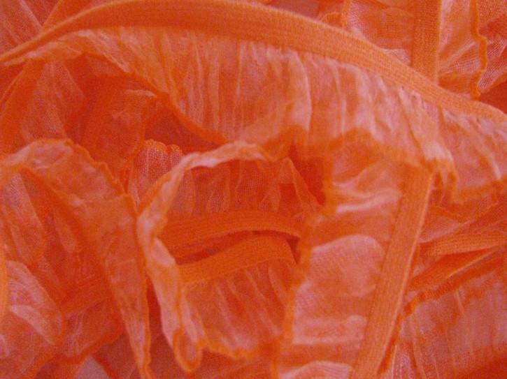 Rüschengummi in kräftigem orange Fb0450