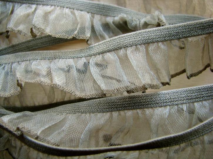 6m Rüschengummi in schlamm Fb0381