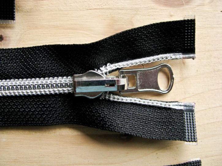 Jacken-Reißverschluss teilbar in schwarz 62cm
