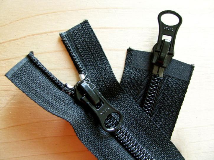 Jacken-Reißverschluss, 2-Weg, teilbar in schwarz 44cm