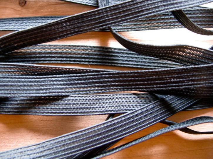 10m zarter Dekollete-Gummi in dunklem rauch-grau Fb0348
