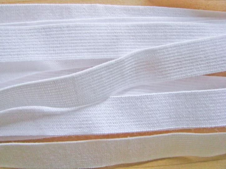 6m Besatz-/Einziehgummi in rein-weiß Fb2000