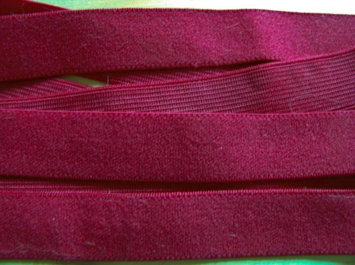 6m zarter Velour-Gummi in chianti-rot Fb0106