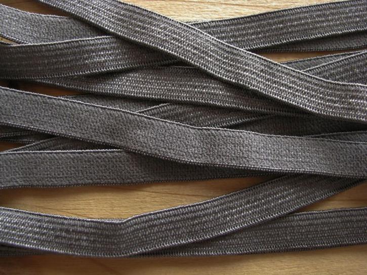 6m zarter Besatz-/Slip-/Wäschegummi in stahl-grau Fb0878