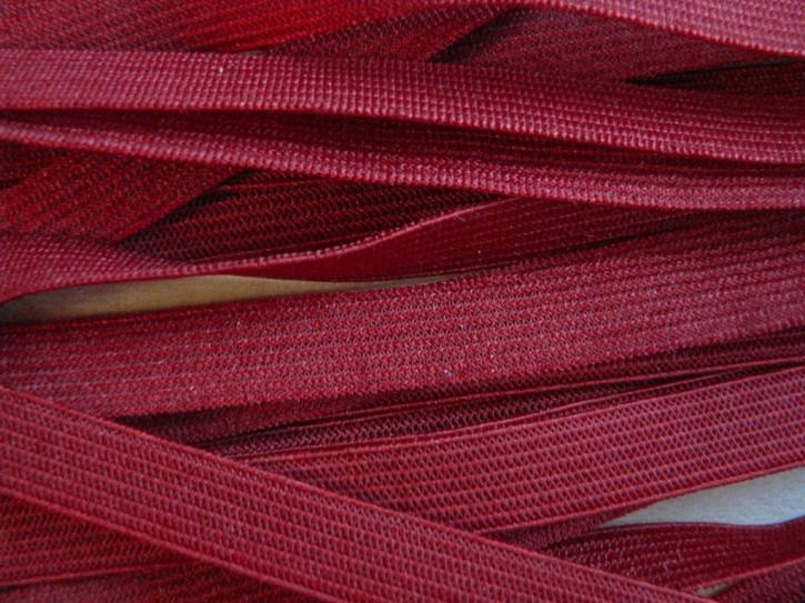 10m zarter Dekollete-Gummi in dunklem kirsch-rot Fb0105