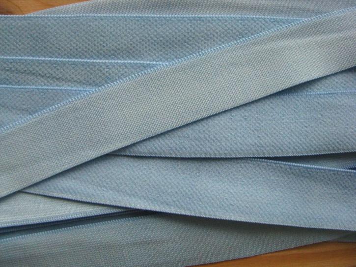 6m weicher Velour-Gummi in hell-blau Fb1469