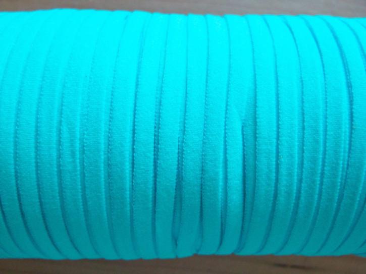 10m zartes Gummibändchen in kräftigem pool-blauFb0409