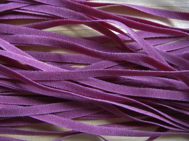 10m zarter Wäsche-Gummi in rot-violett Fb0056