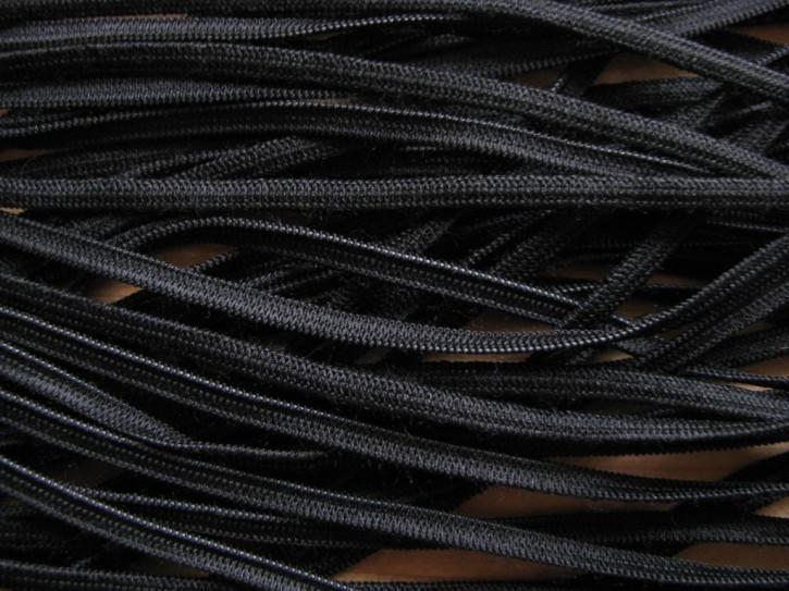 10m Gummiband flach in schwarz Fb4000 - 4mm