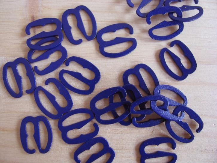 8 Stk. Haken Metall in königs-blau