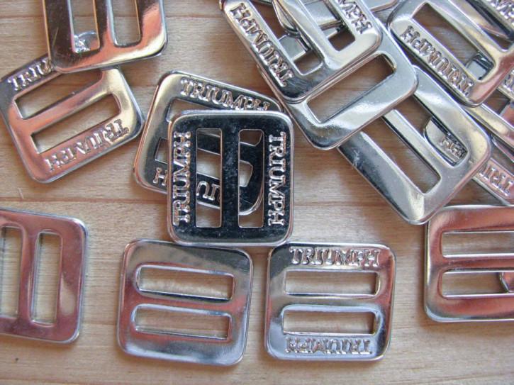 8 Schieber Metall in silber - 12mm