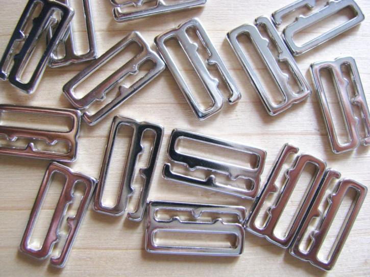 8 Stk. Haken in silber/Metall - 15mm