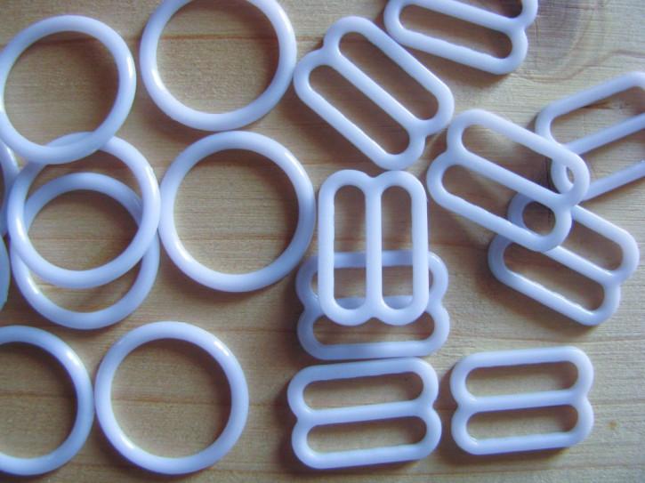 4 Schieber und 4 Ringe in zart flieder Fb0027 - 12mm