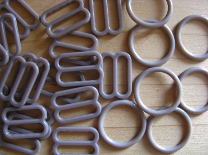 4 Schieber und 4 Ringe in coffee sugar Fb1230 - 12mm