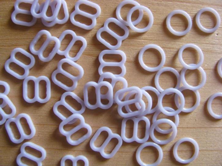 4 Schieber und 4 Ringe in zart flieder Fb0027 - 6mm