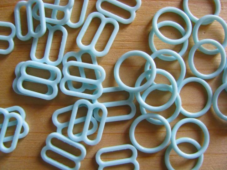 4 Schieber und 4 Ringe in mint Fb0407 - 10mm