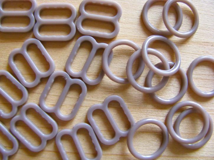 4 Schieber und 4 Ringe in coffee sugar Fb1230 - 8mm