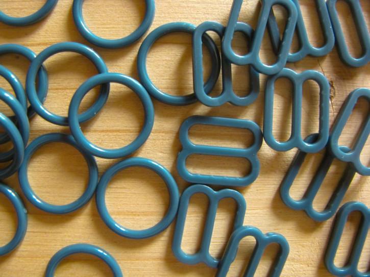 4 Schieber und 4 Ringe in pacific-blau Fb1276 - 10mm