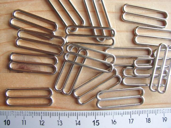 8 Schieber Metall in silber - 25mm