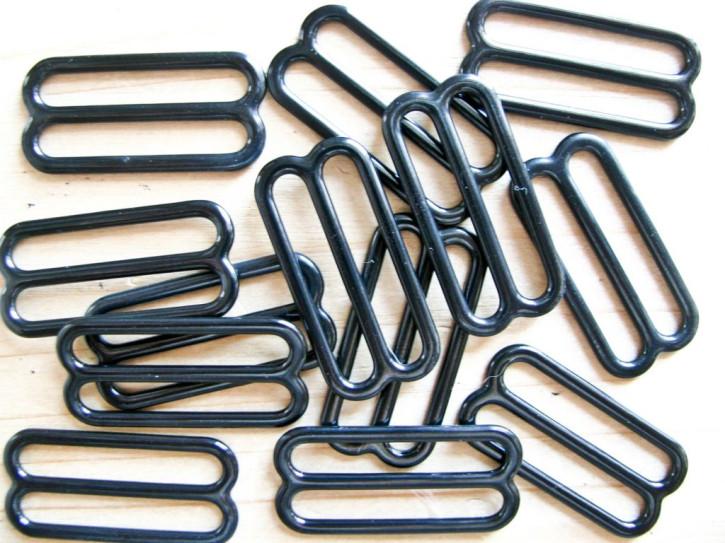 8 Schieber Metall in schwarz - 25mm