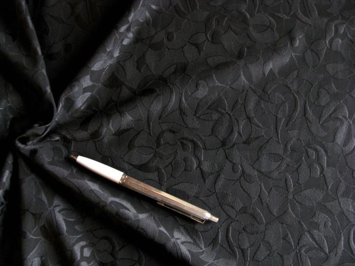 1m bi-elastische, strukuriere Microfaser in schwarz Fb4000