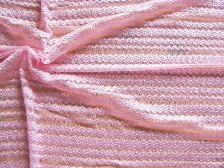 1m bi-elastische XXL-Spitze/All-Over-Spitze in zartem rosa Fb1056