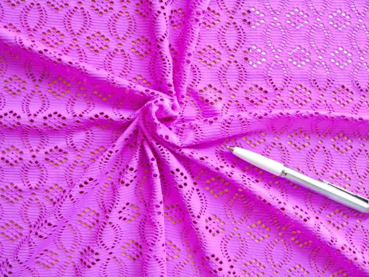 1m bi-elastische All-Over-Spitze in magenta/purple Fb1059