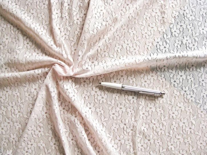 1m bi-elastische All-Over-Spitze in pastell-rosa Fb0082