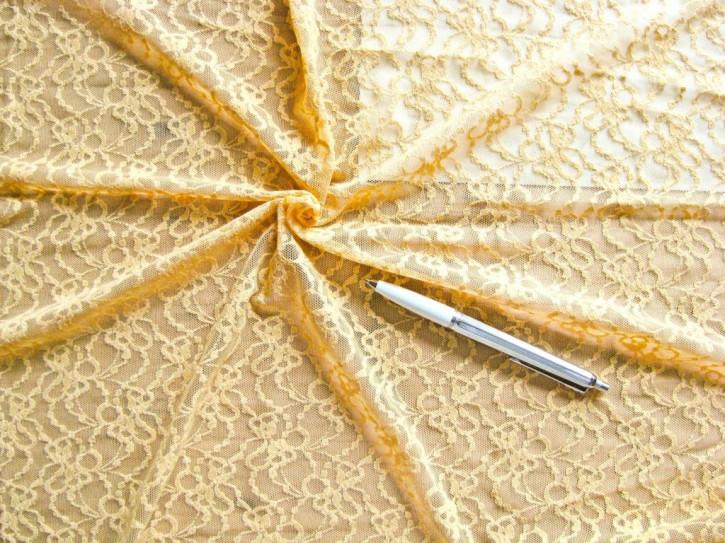 1m bi-elastische All-Over-Spitze in sonnigem Gelb Fb0118