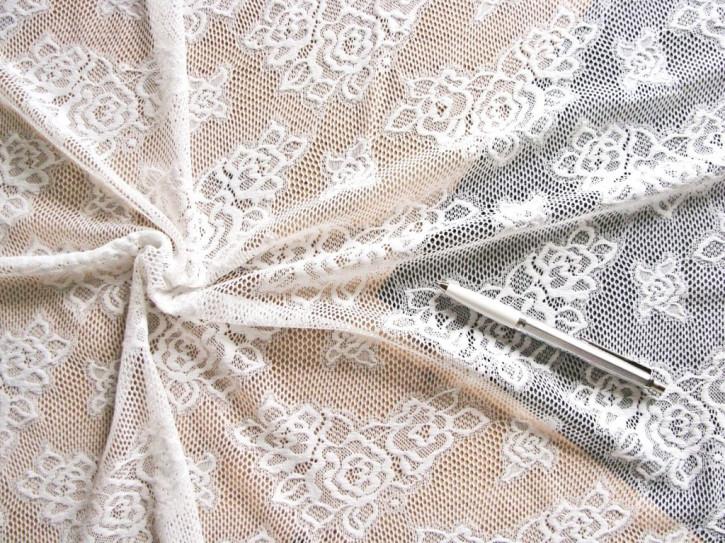 1m bi-elastische All-Over-Spitze in winter-weiß Fb1451