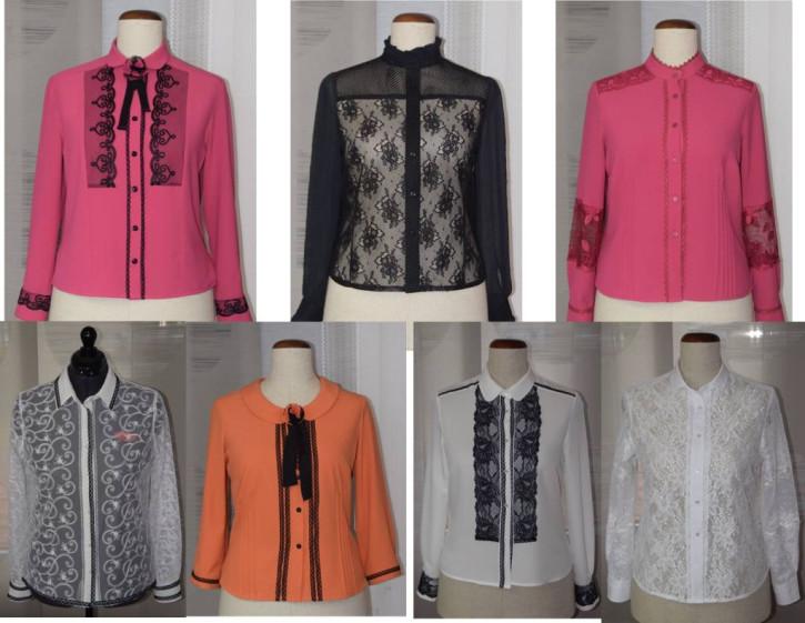 7 Modelle edler Blusen aus Spitze