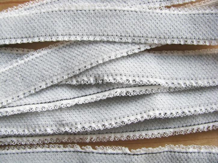 5m Schmuck-Träger-Gummi/Schulterband in weiß/grau... Fb2000 - 14mm