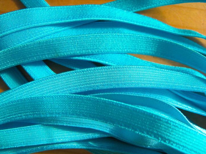 5m Satin-Träger-Gummi in kräftigem /pool/türkis-blau Fb0409 - 8mm