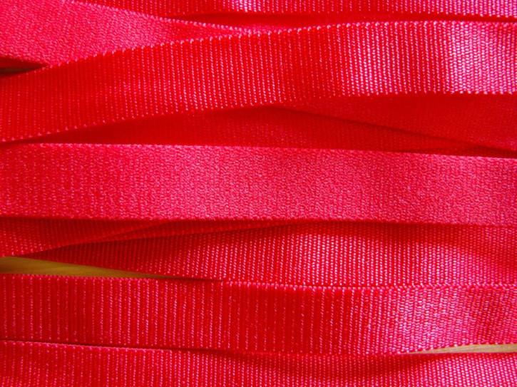 5m Satin-Träger-Gummi in mohn-rot Fb0503