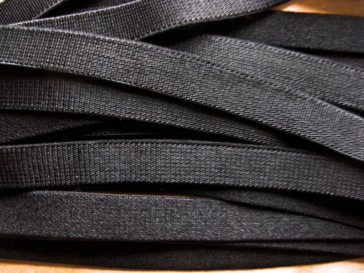 5m Satin-Träger-Gummi in schwarz Fb4000 - 10mm